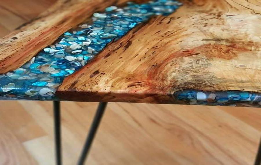 شیوه ی نوین چوب با رزین - Epoxy resin with wood