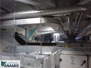 کانال مکعب با ایزولاسیون و نصب به سانترال .شرکت پاک حیات
